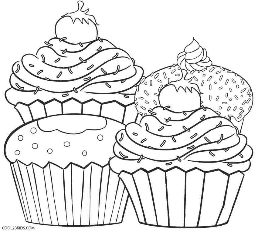 850x765 Free Printable Cupcake Coloring Pages For Kids
