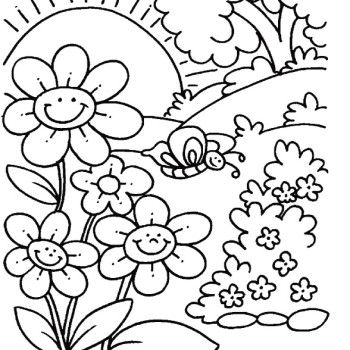 350x350 Spring Printable Coloring Pages