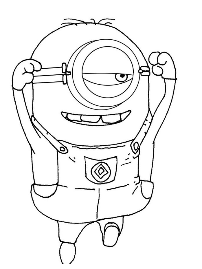 698x929 Free Despicable Me Coloring Pages Printable Despicable Me Coloring