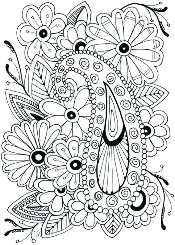 567x794 Flower Bouquets Coloring Pages Printable Flowers Coloring Pages