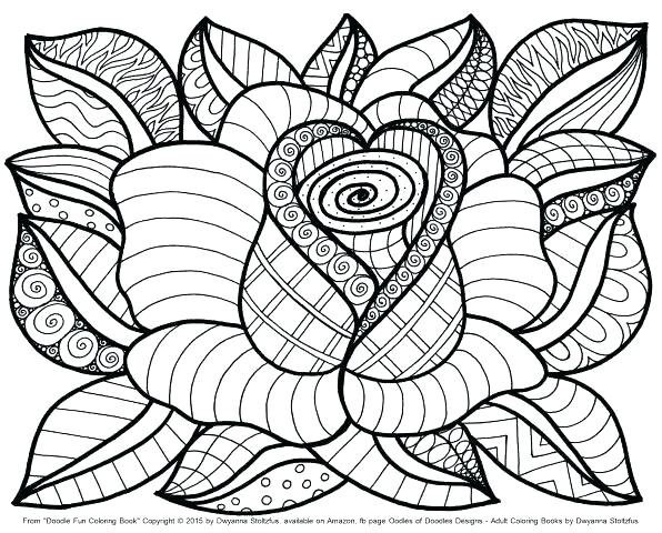 596x480 Simple Flower Coloring Pages Adult Coloring Pages Customize