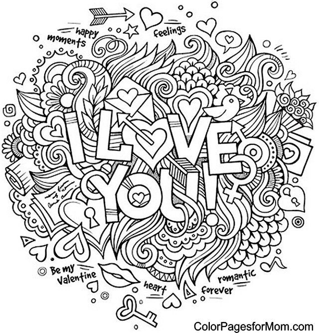640x669 Printable Coloring Pages For Adults Love