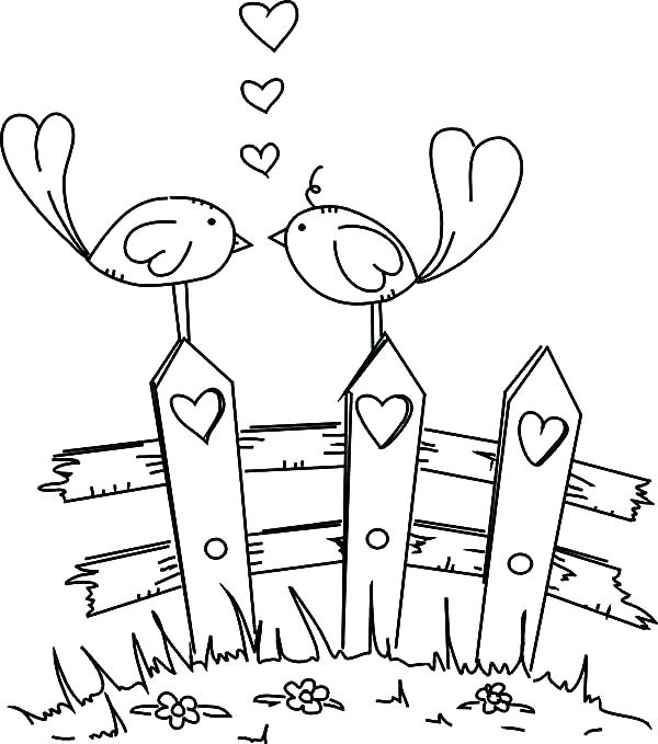 600x679 In Love Coloring Pages