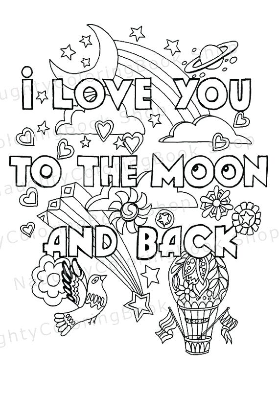 570x807 Coloring Pages Of Love Adult Coloring Pages Love Too The Moon