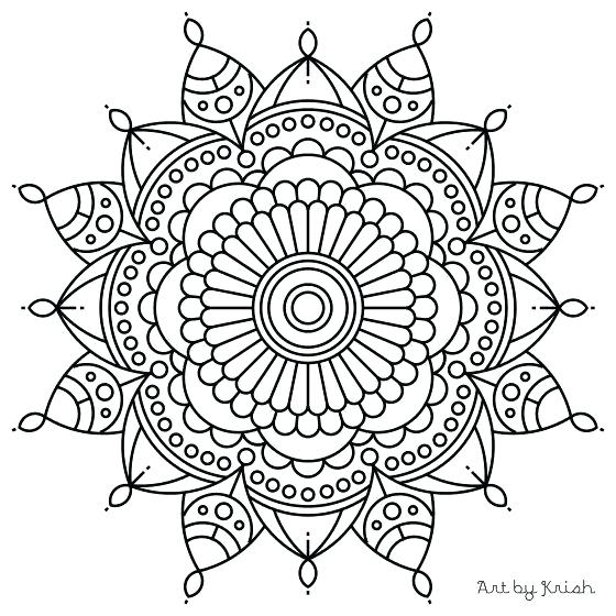 560x560 Easy Mandalas To Color Exciting Coloring Pages Mandala For Line