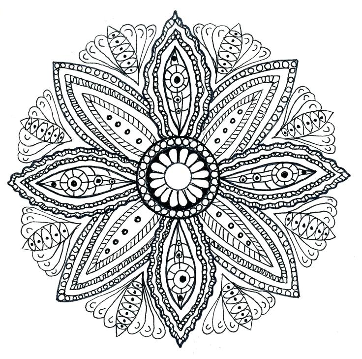 Printable Coloring Pages For Adults Mandala at GetDrawings