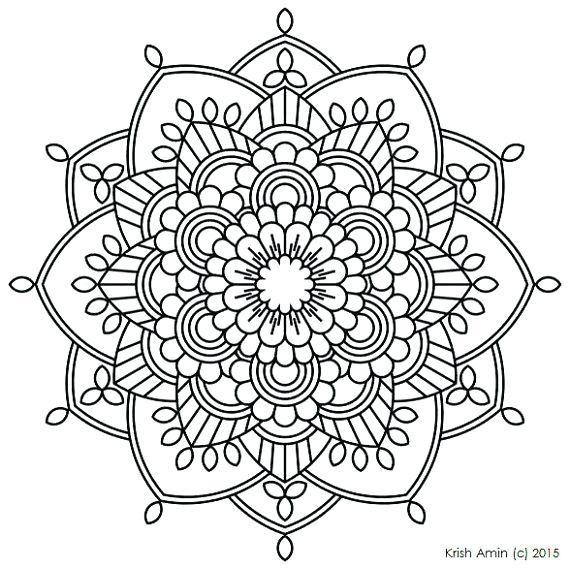 Printable Coloring Pages For Adults Mandala At Getdrawings Com