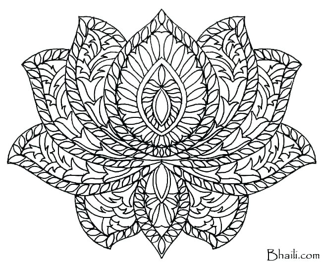 Printable Coloring Pages For Adults Mandala At Getdrawings Free