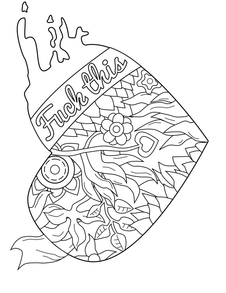 750x971 Free Printable Coloring Pages Adults Only Best Of Swear Word