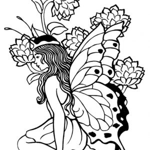 300x300 Free Coloring Pages For Adults Only Fresh Delicate Flower Free
