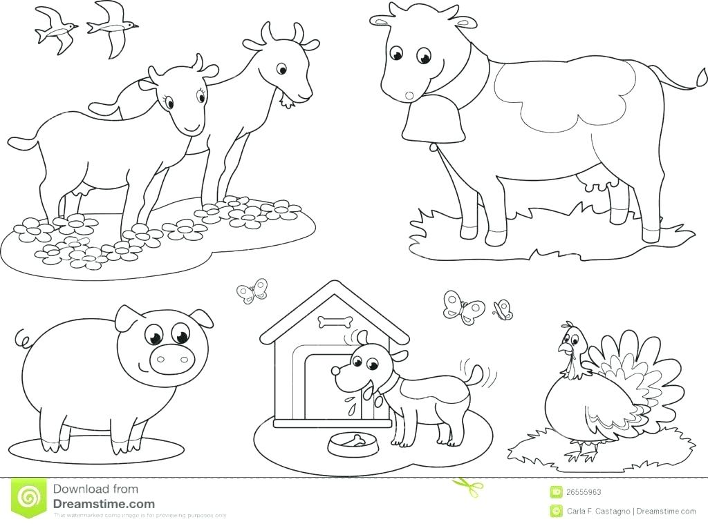 1024x762 Farm Coloring Pages Farm Animals Coloring Pages For Kids Printable