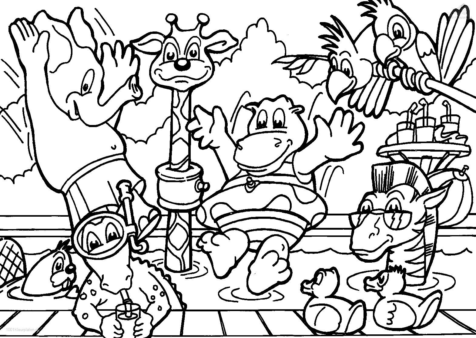 1570x1117 Special Printable Colouring Pages Of Animals Cow Coloring For Kids