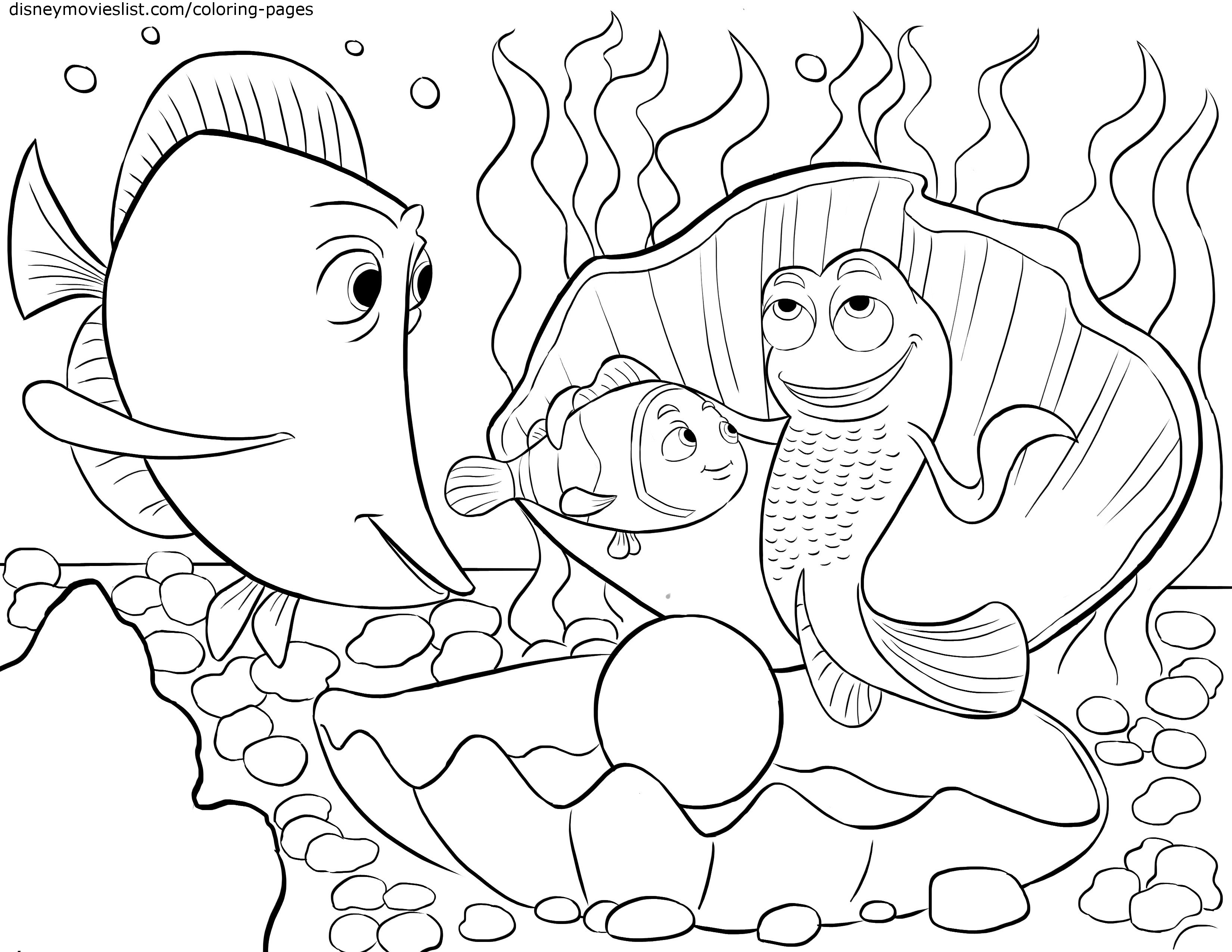 3300x2550 Finding Nemo Coloring Pages