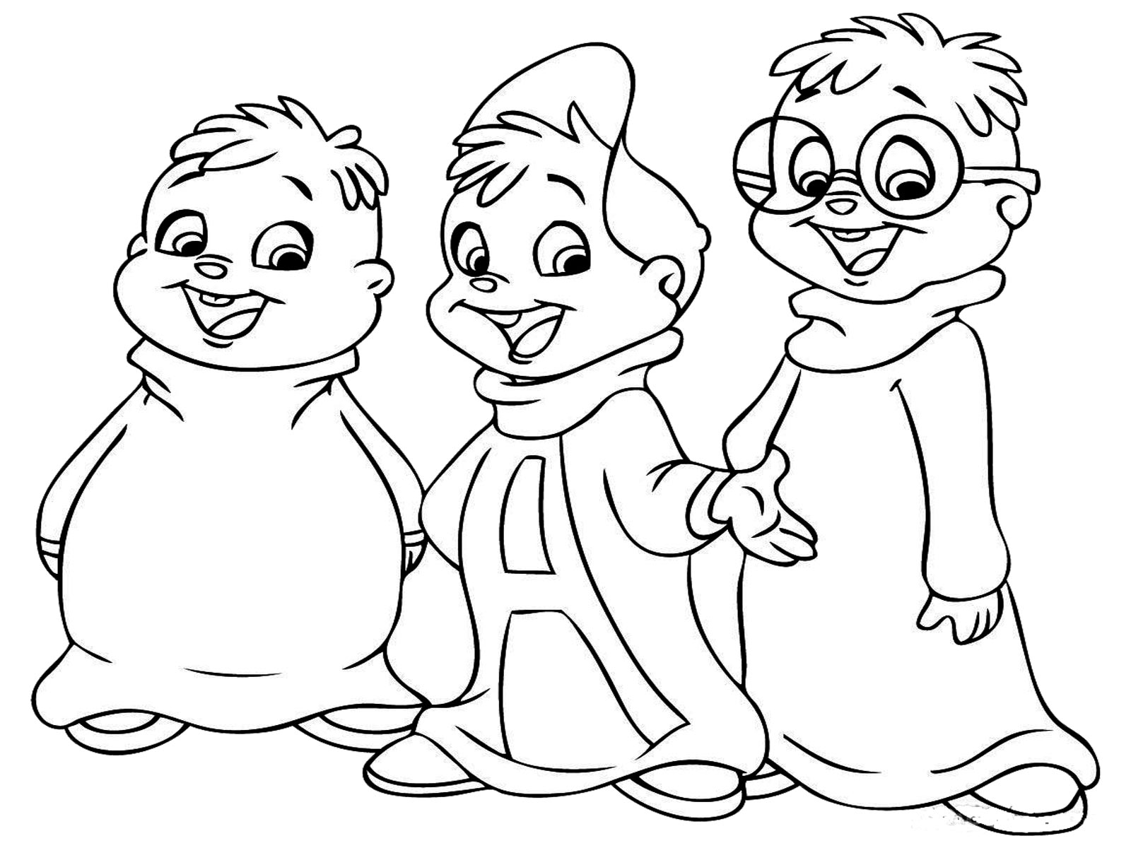 1600x1200 Alvin And The Chipmunks Coloring Pages