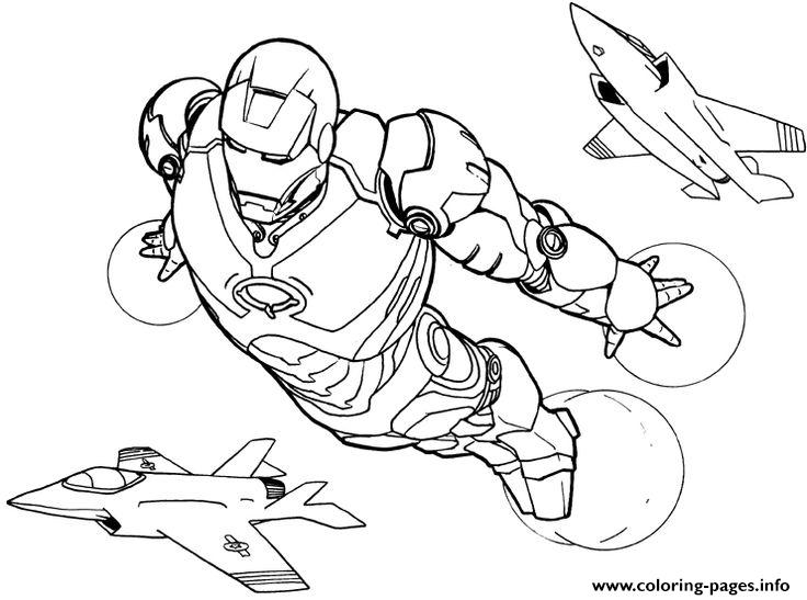 736x547 Iron Man Flying Coloring Pages Printable