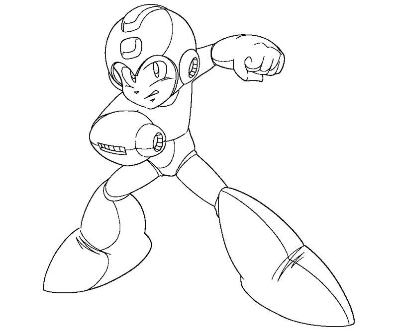 800x667 Mega Man Coloring Pages