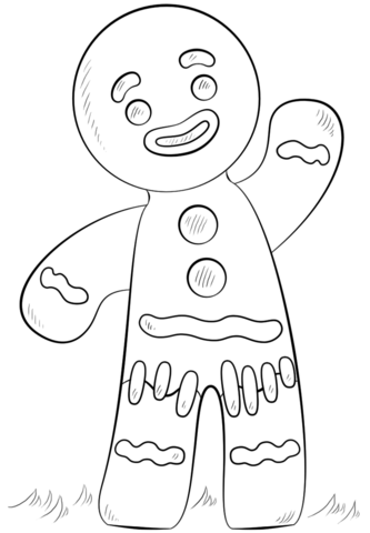 333x480 Shrek Gingerbread Man Coloring Pages Gingerbread Man Coloring Page