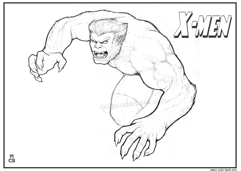 990x703 X Men Free Printable Coloring Pages