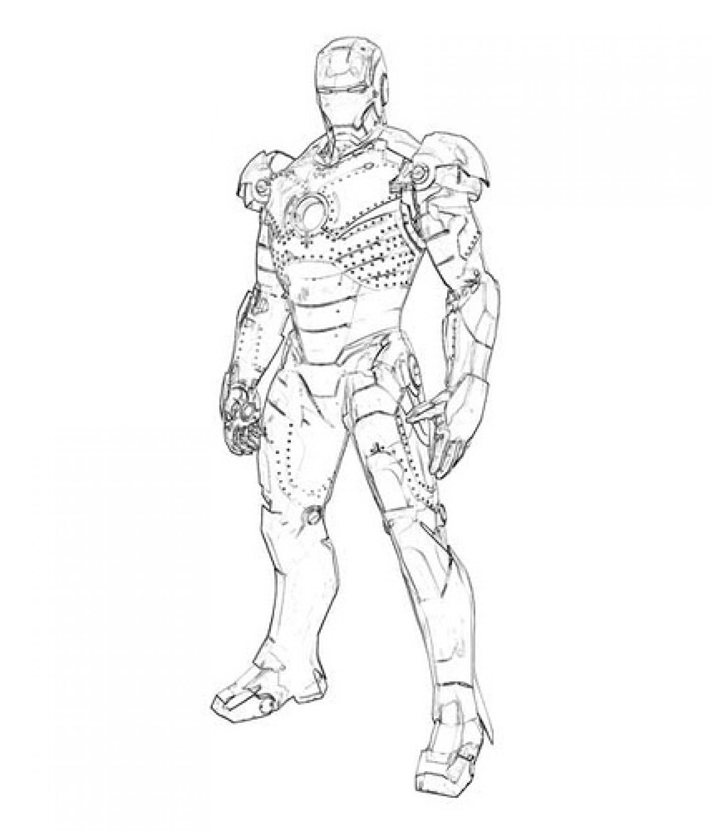1440x1678 Free Printable Iron Man Coloring Pages For Kids