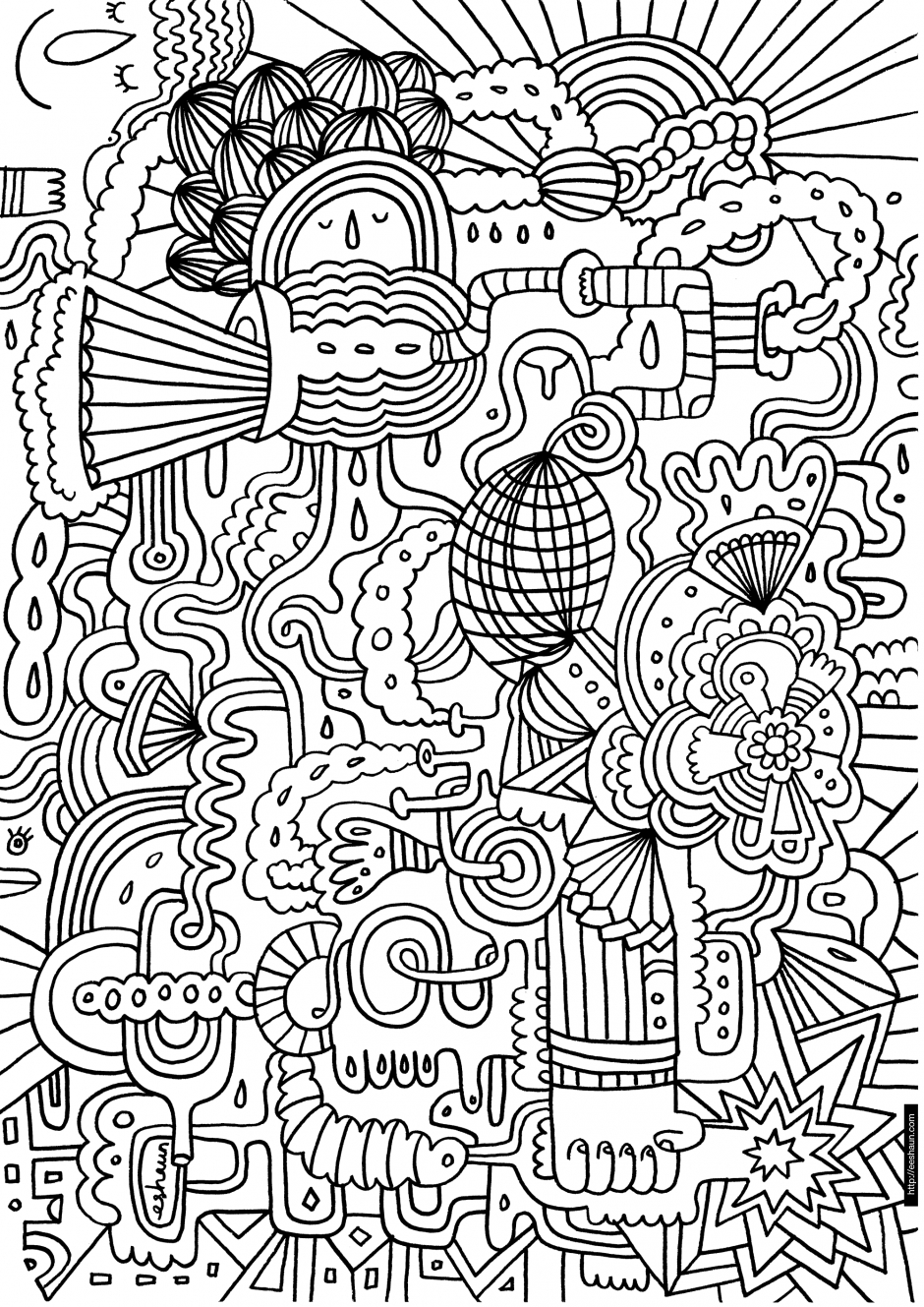 940x1329 Difficult Coloring Pages For Teenagers Printable