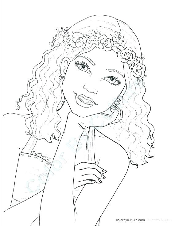 570x738 Teenage Coloring Pages Pingyume Teenage Coloring Pages Teenage