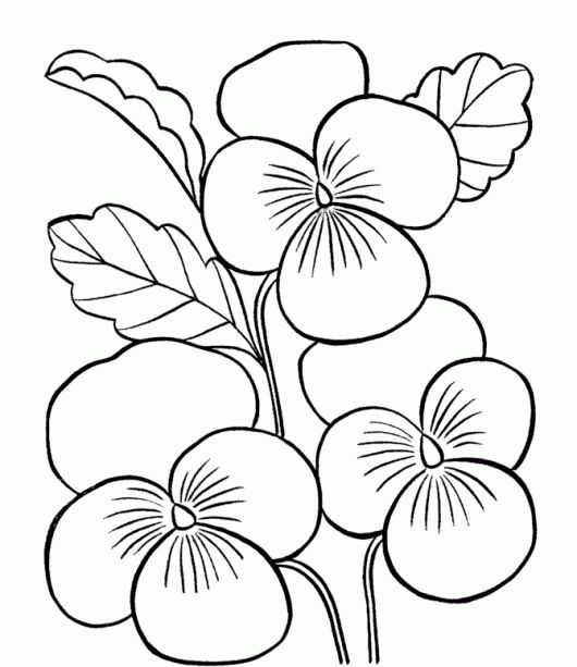 Printable Coloring Pages Of Flowers For Kids