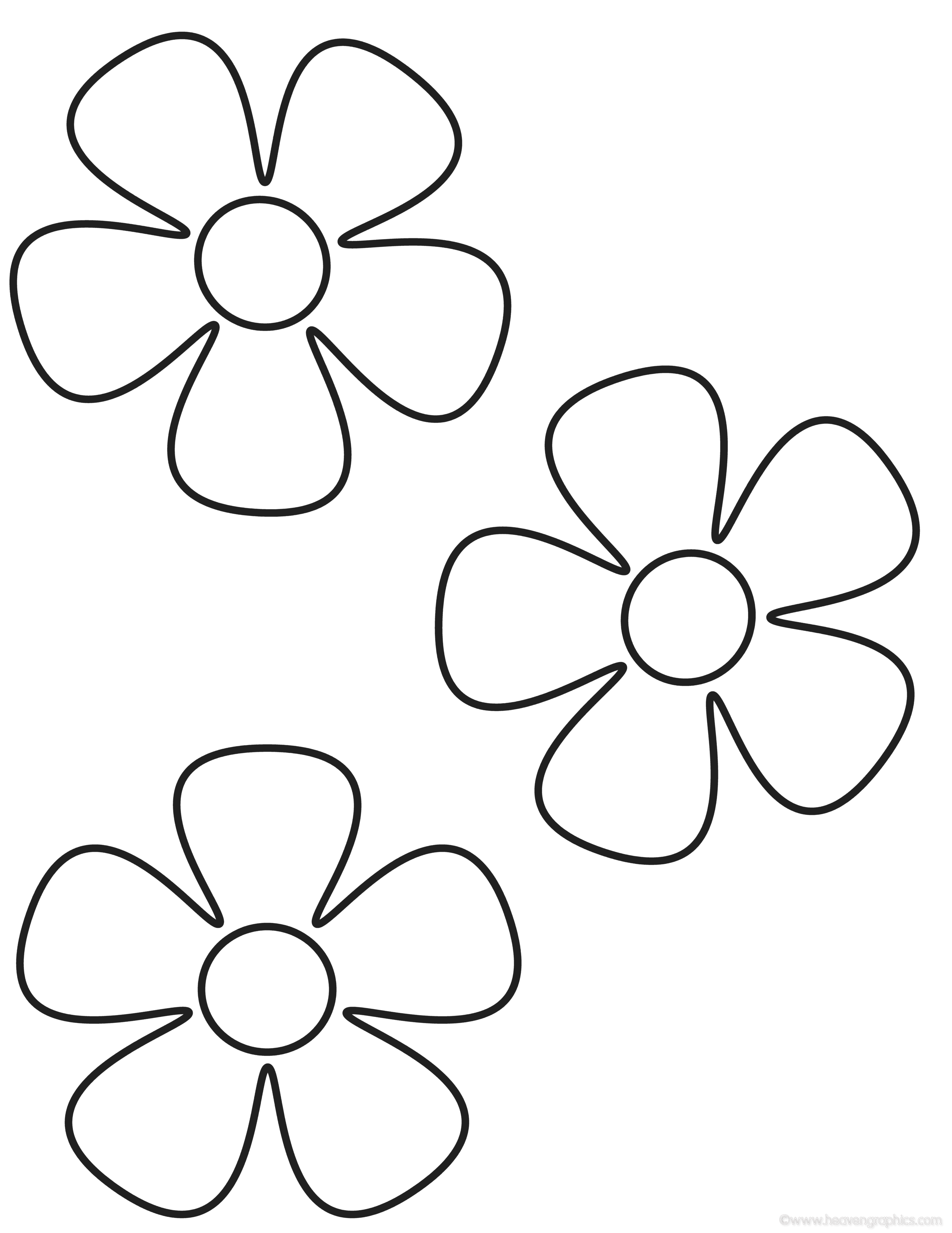 2550x3300 Printable Coloring Pages Flowers Kids Flower Coloring Pages