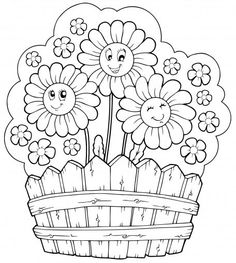 236x263 Printable Coloring Pages For Kids Flowers Color Bros