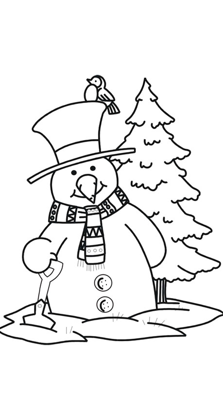 459x859 Cool Snowman Print Coloring Pages For Kids Free Printable Coloring