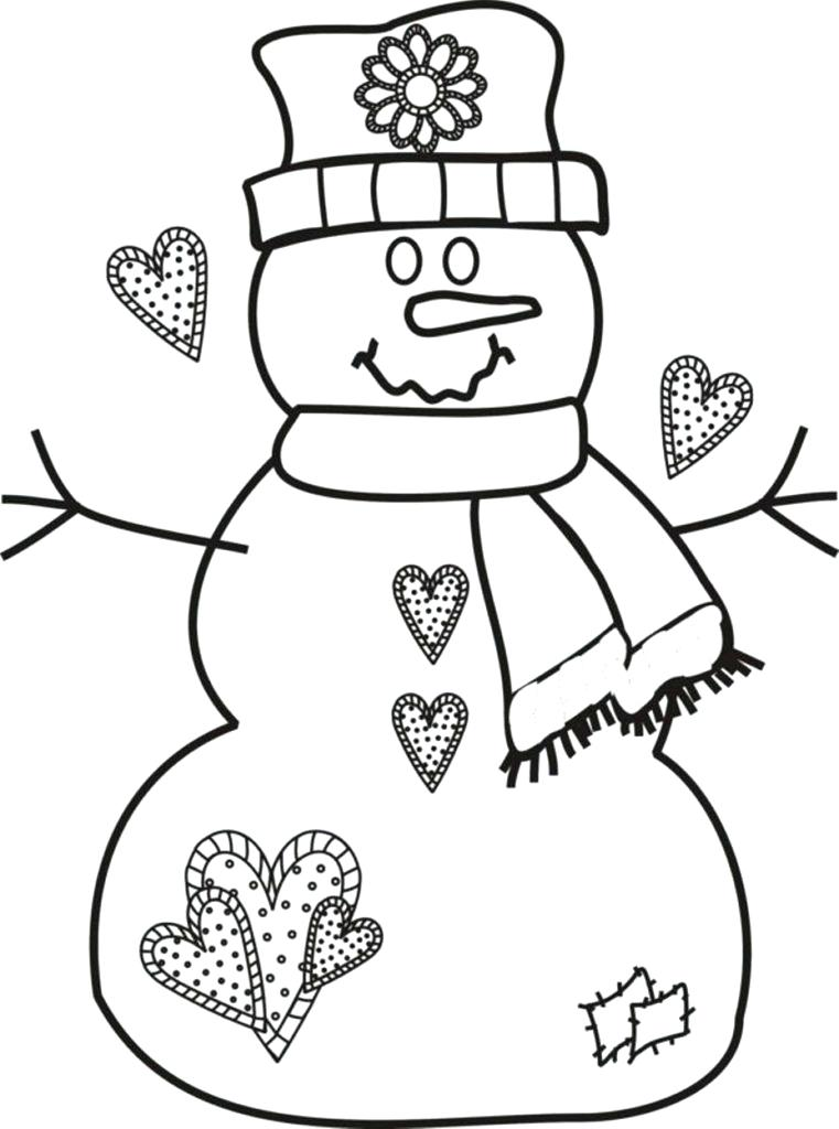 761x1024 Free Christmas Coloring Pages For Kids Snowman Printable Free