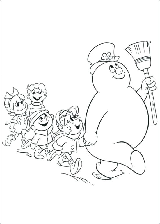 550x770 Printable Snowman Coloring Pages Printable Snowman Coloring Pages