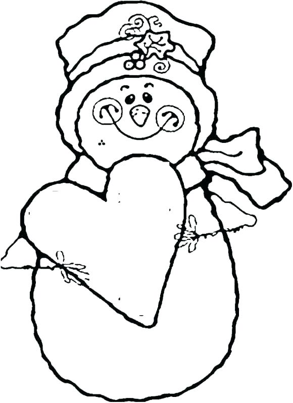 580x798 Snow Man Coloring Pages Free Printable Snowman Coloring Pages