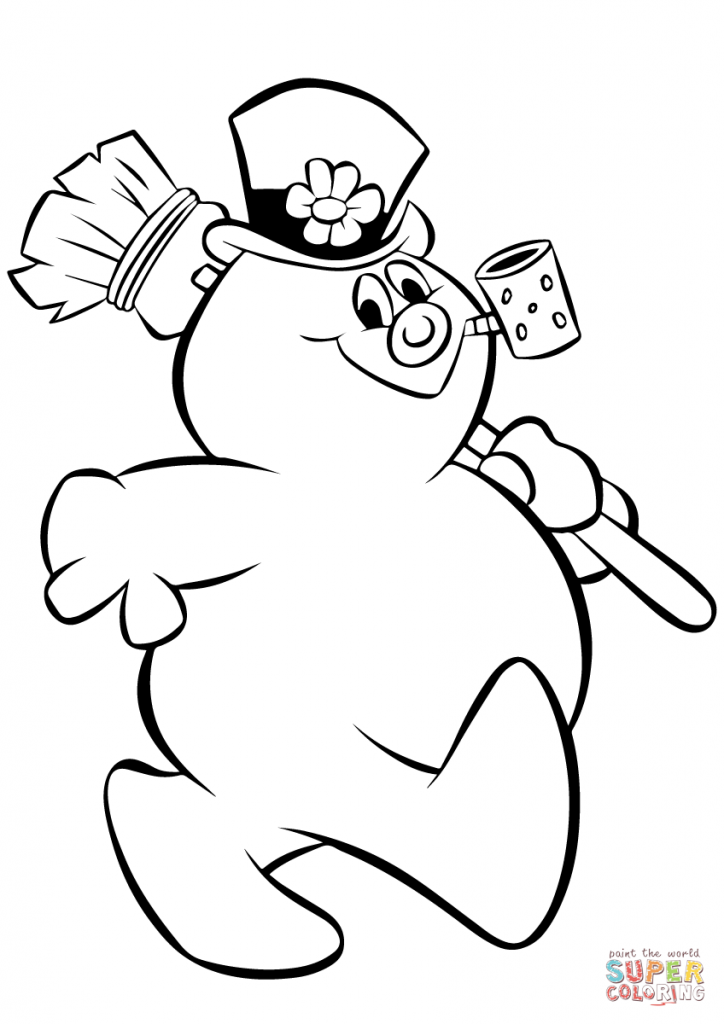 724x1024 Snowman Coloring Pages