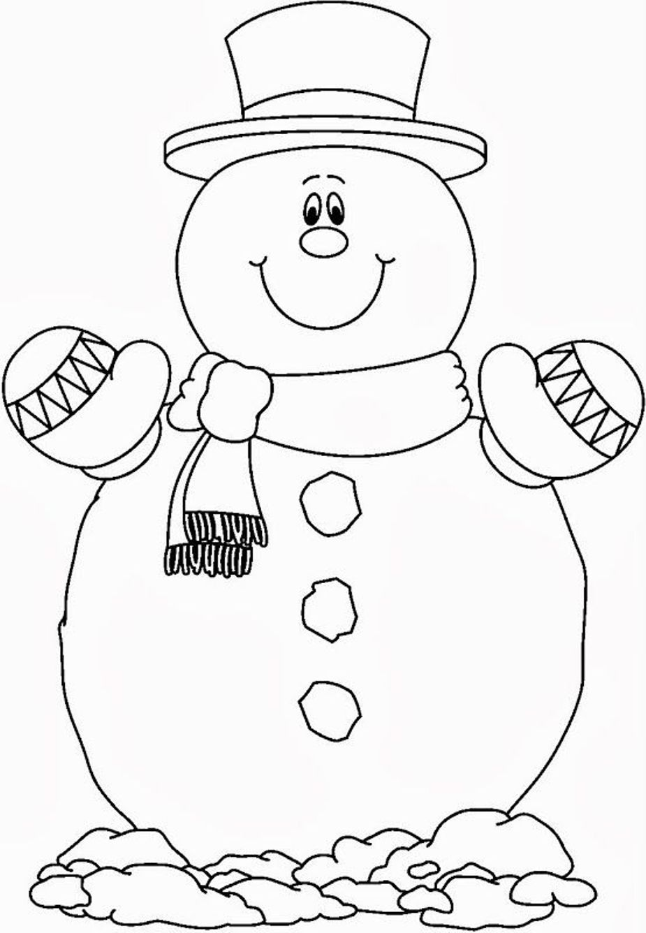 925x1336 Christmas Cartoon Coloring Pages Snowman Retro Printable