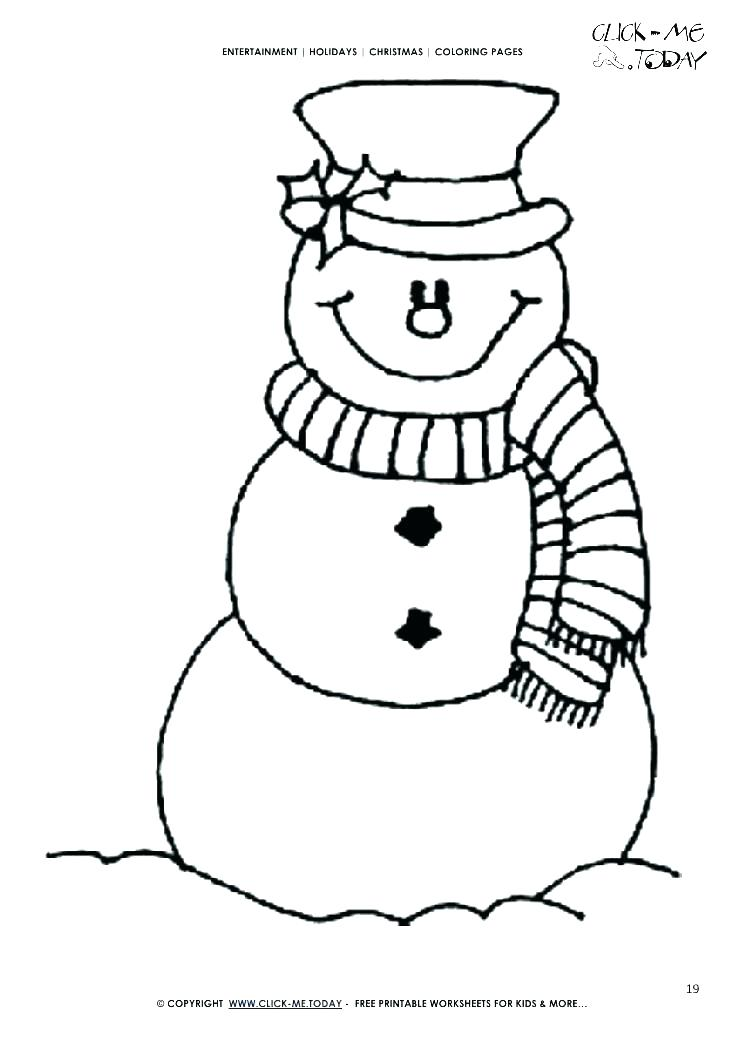 745x1053 Coloring Pages Snowman
