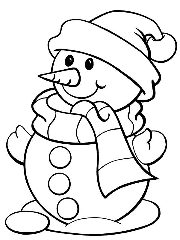 601x800 Print Coloring Image Snowman, Free Printable And Printable