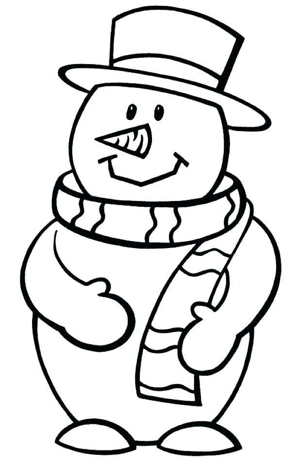 618x960 Coloring Page Snowman Free Printable Holiday Coloring Pages