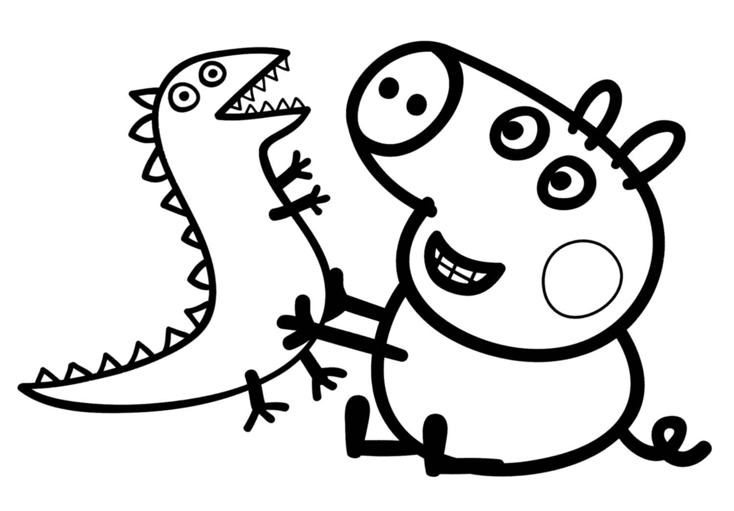 Printable Coloring Pages Peppa Pig At Getdrawings Com Free For