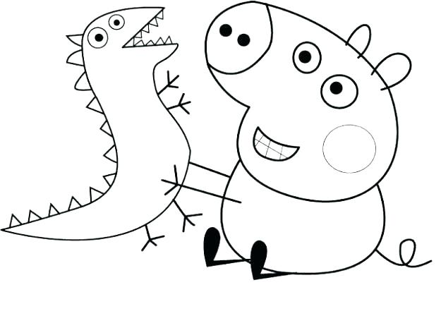 625x448 Peppa Pig Coloring Pages Pig Colouring Pages Printable Coloring