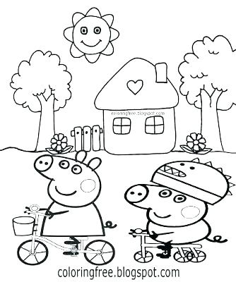 334x400 Peppa Pig Coloring Pages Printable Coloring Pages Medium Size