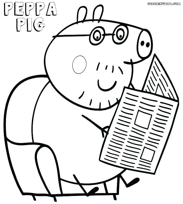 615x686 Peppa Pig Print Pig Colouring Pages To Print Pig Printable