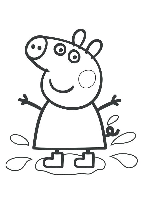 595x842 Peppa Pig Printable Coloring Pages Coloring Pages Pig Pig Color