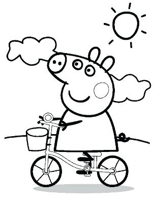 303x400 Peppa Pig Printable Coloring Pages Free Printable Pig Coloring