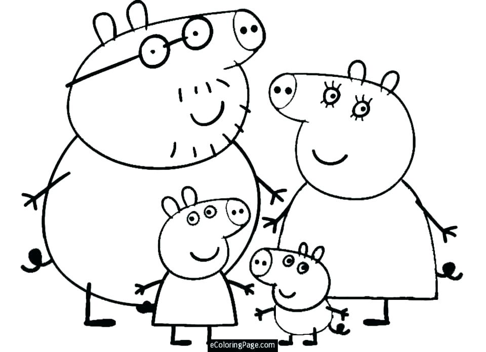960x696 Peppa Pig Printable Coloring Pages Pig Color Pages Pig Printable
