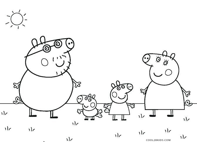 670x483 Peppa Pig Coloring Sheets
