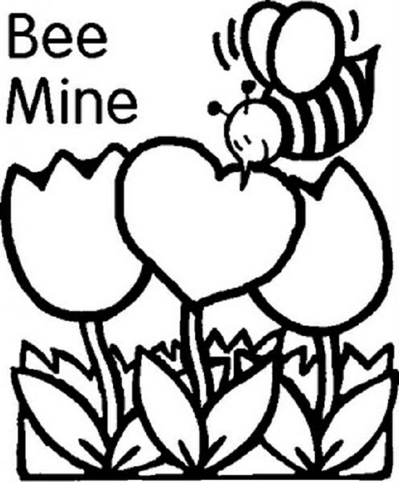 Printable Coloring Pages Valentines Day Cards At Getdrawings