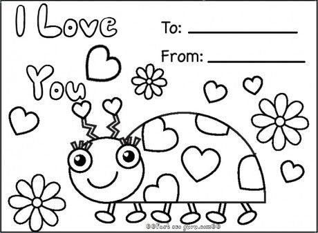Printable Coloring Pages Valentines Day Cards at GetDrawings.com ...