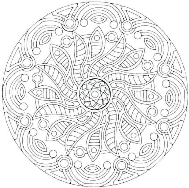 618x614 Printable Complex Coloring Pages Mandala Printable Coloring Pages