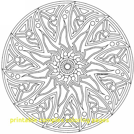 544x544 Printable Complex Coloring Pages Complex Colouring Sheets