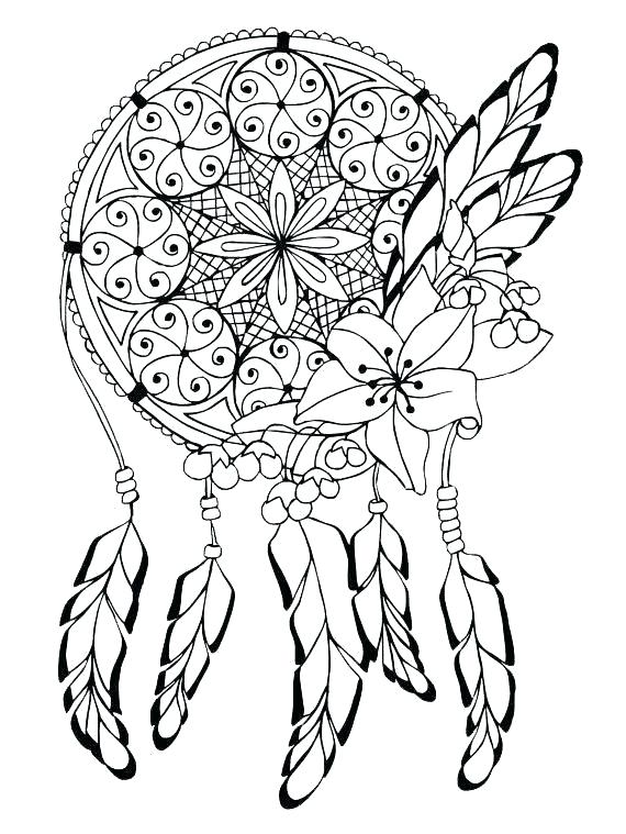 570x759 Geometrical Coloring Pages